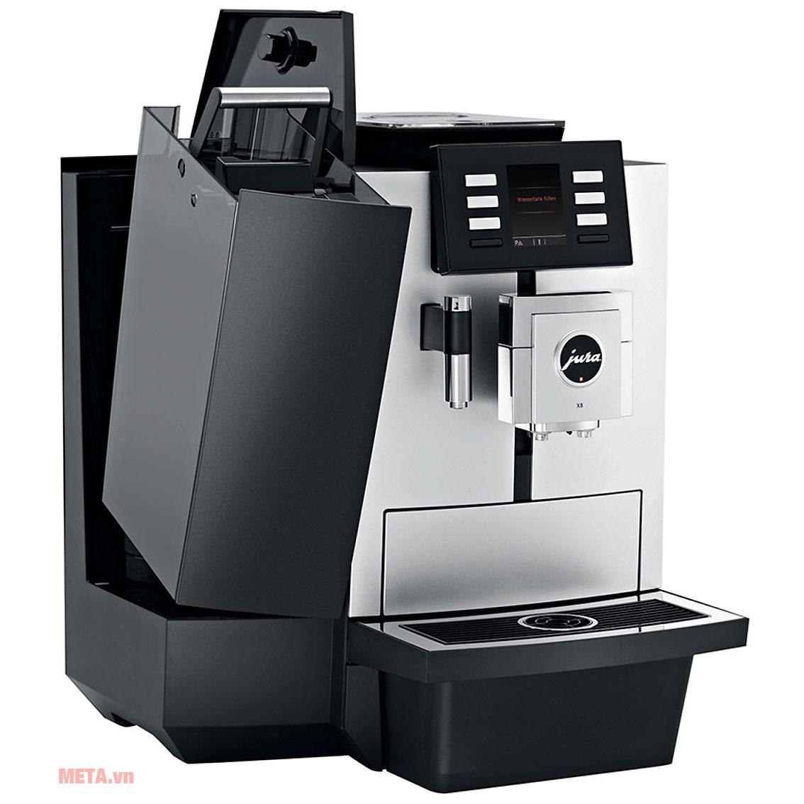 Máy pha cà phê Jura X8 Platin thiết kế sang trọng