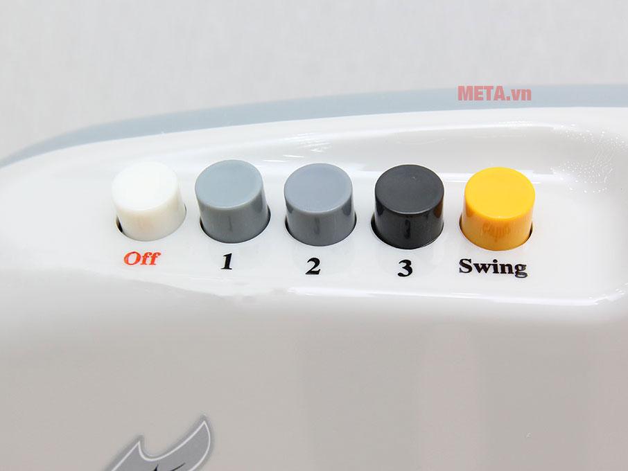 Công tắc điều chỉnh tốc độ dạng nút nhấn cơ dẽ dàng sử dụng