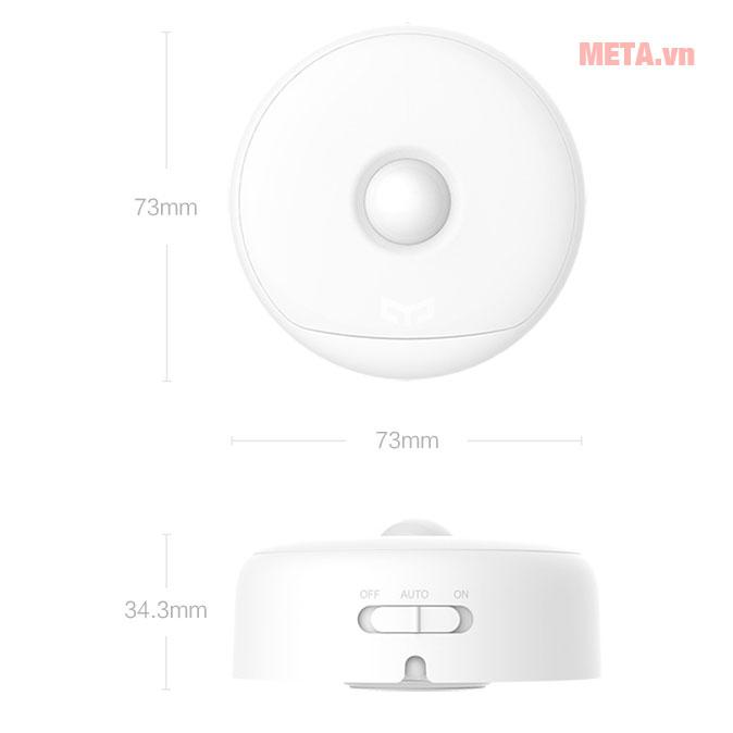 Kích thước đèn cảm ứng ban đêm Xiaomi Yeelight Rechargeable Night Light