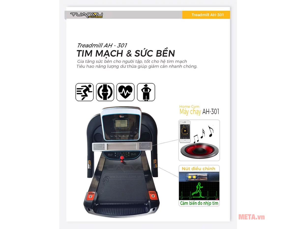 Các chức năng của máy chạy bộ