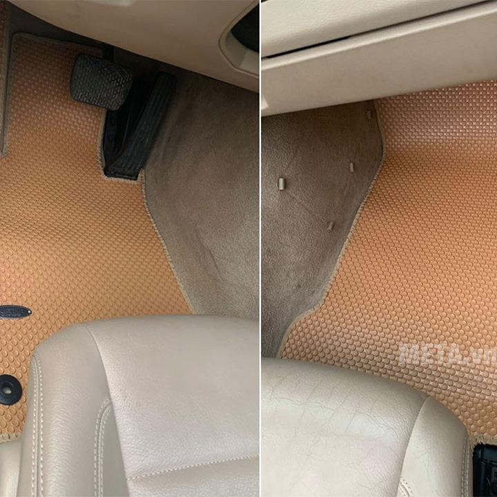 Chi tiết thảm lót sàn màu da bò