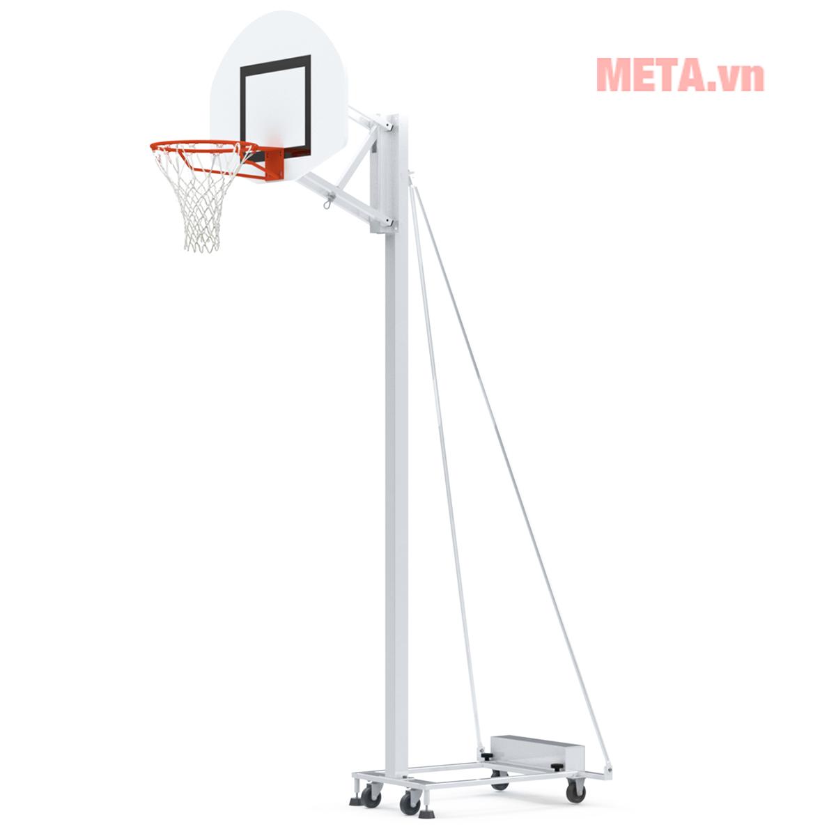Hình ảnh trụ bóng rổ di động dùng cho trường học hoặc câu lạc bộ