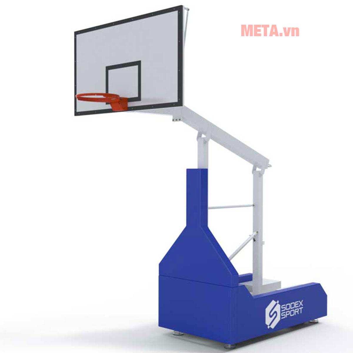 Hình ảnh trụ bóng rổ xếp dùng cho thi đấu cấp độ cao