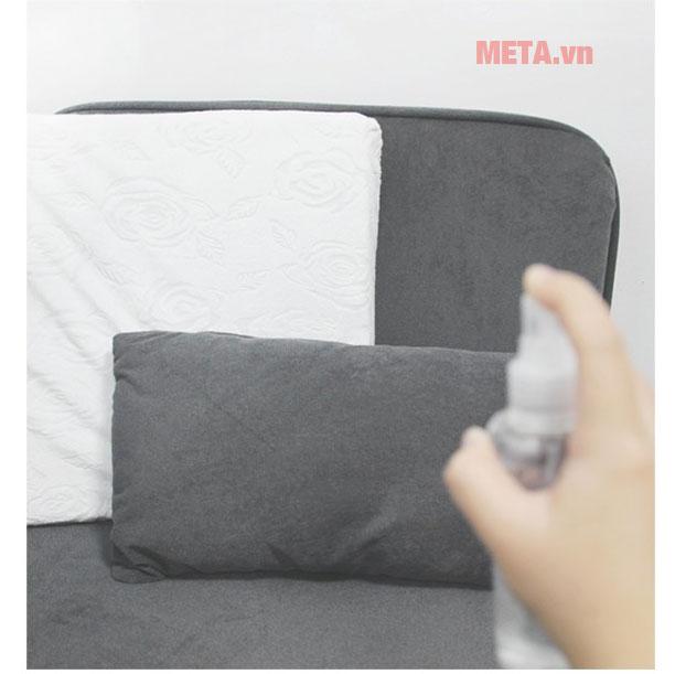 Sử dụng trên chăn mằn, sofa, nệm