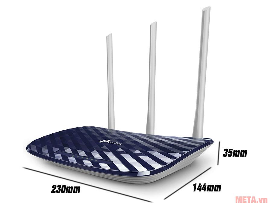 Kích thước bộ phát wifi TP-Link