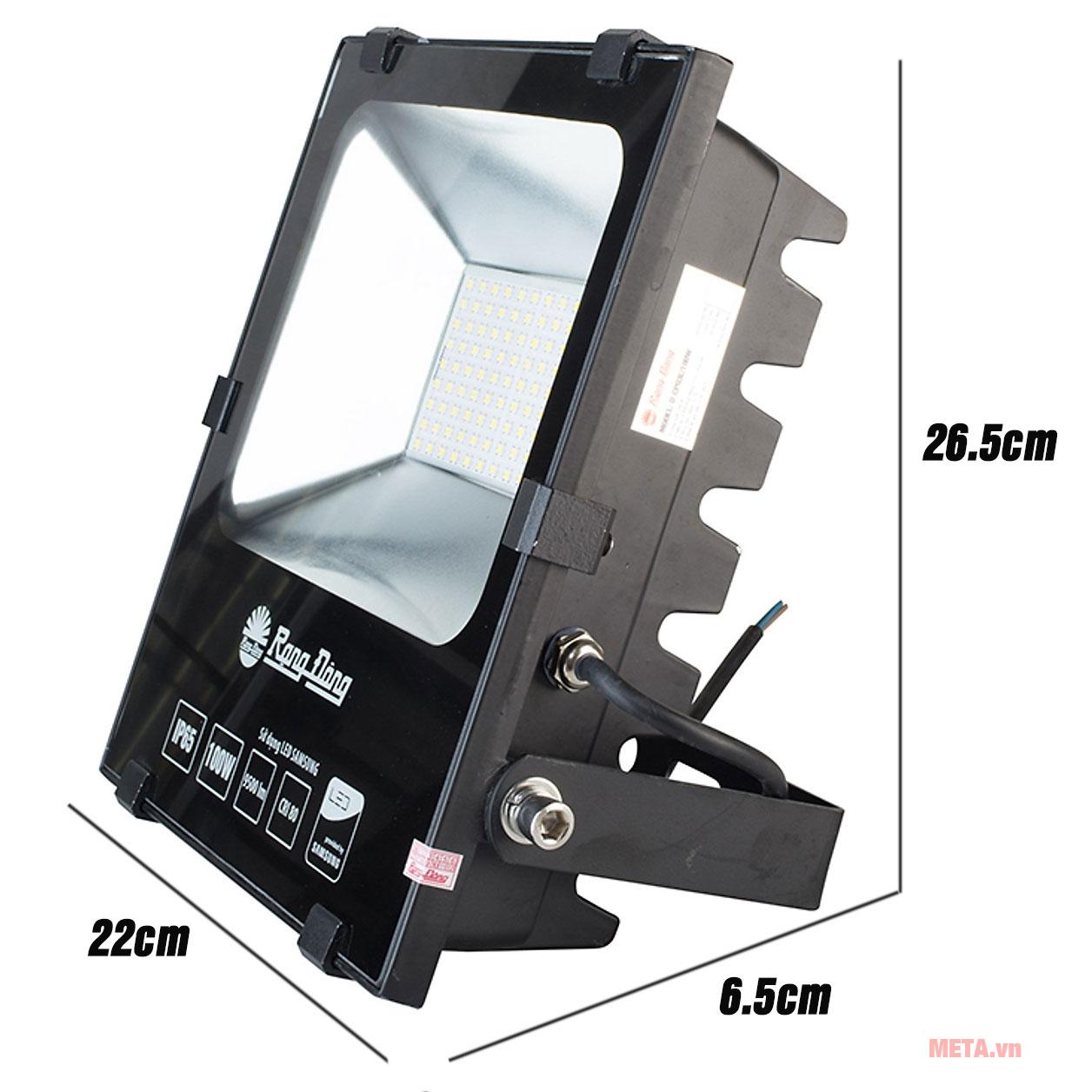Kích thước đèn LED chiếu pha Rạng Đông