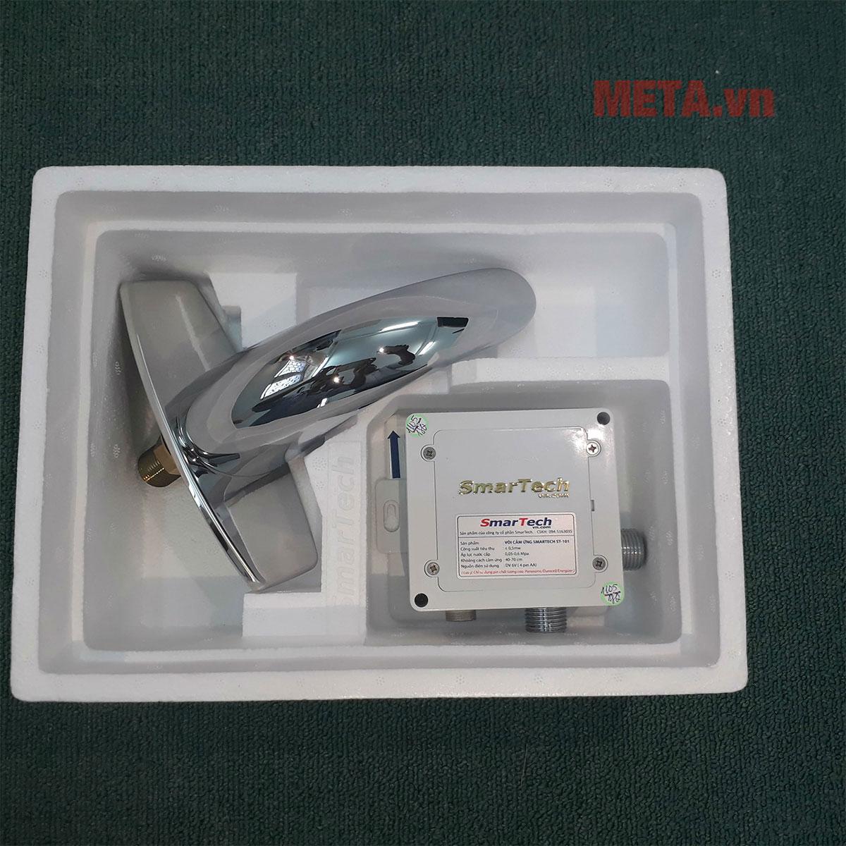 Thân vòi sử dụng chất liệu cao cấp, chống gỉ sét, sáng bóng