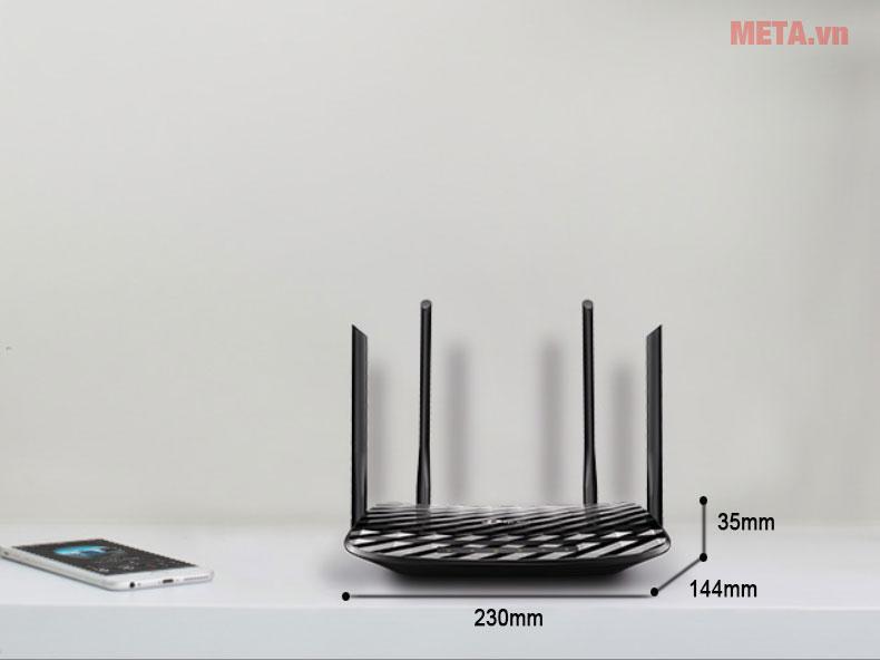 Kích thước router Wifi TP-Link Archer C6