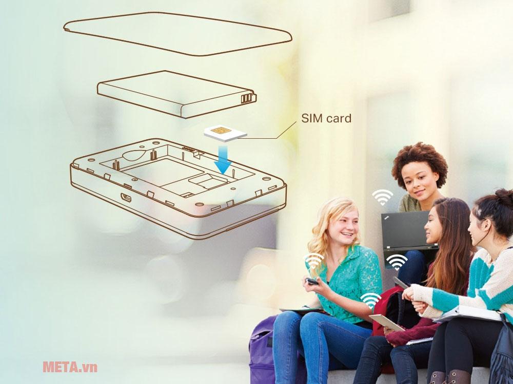 Vị trí lắp sim 3G/4G