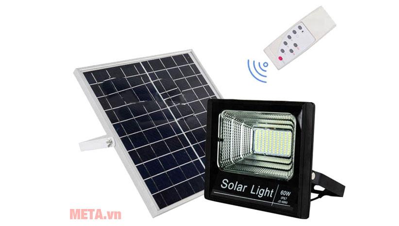 Đèn Led năng lượng mặt trời 60W-VC-8860 đi kèm điều khiển từ xa