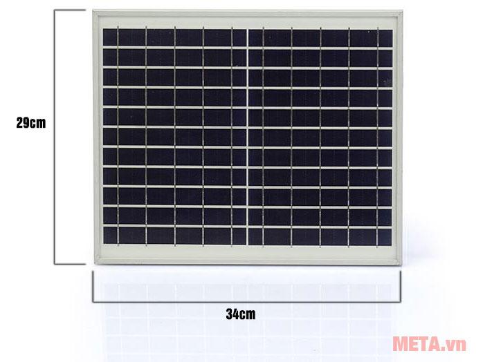 Kích thước tấm pin năng lượng mặt trời