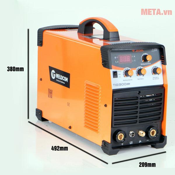 Kích thước máy hàn Jasic Tig 300 W229
