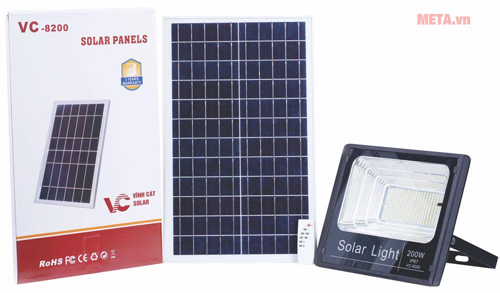 Bộ sản phẩm đèn năng lượng mặt trời 200W VC-8200