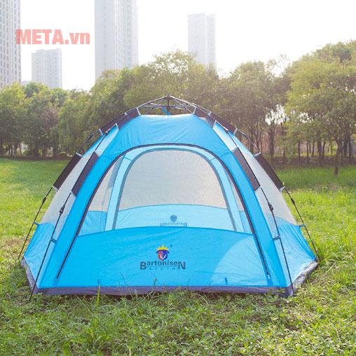 Hình ảnh lều trại 2 lớp màu xanh dương