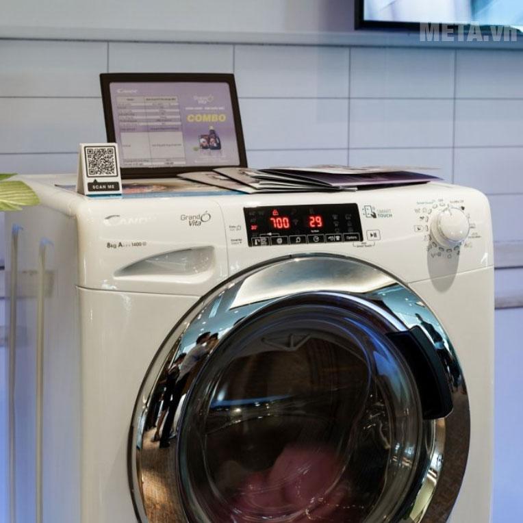 Máy giặt Candy GVS 148THC3/1-04 có khối lượng giặt 8kg