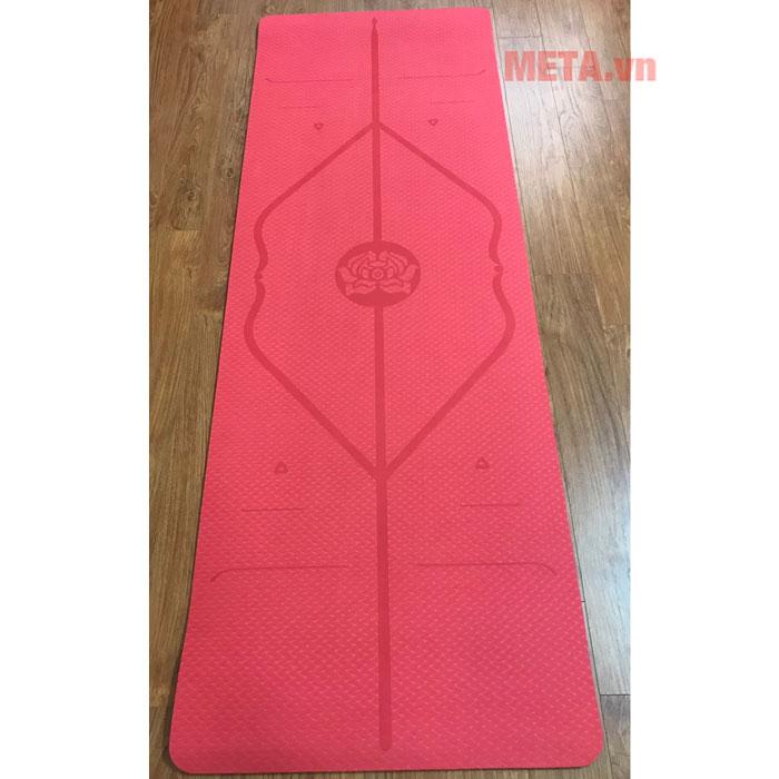 Thảm yoga định tuyến màu đỏ dày 8mm
