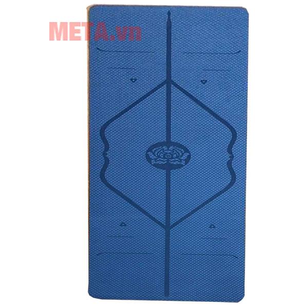 Hình ảnh thảm yoga 8 ly xanh than
