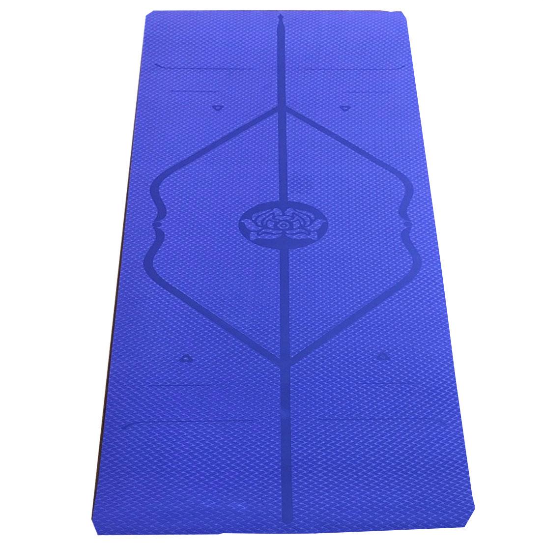 Hình ảnh thảm yoga xanh dương đậm