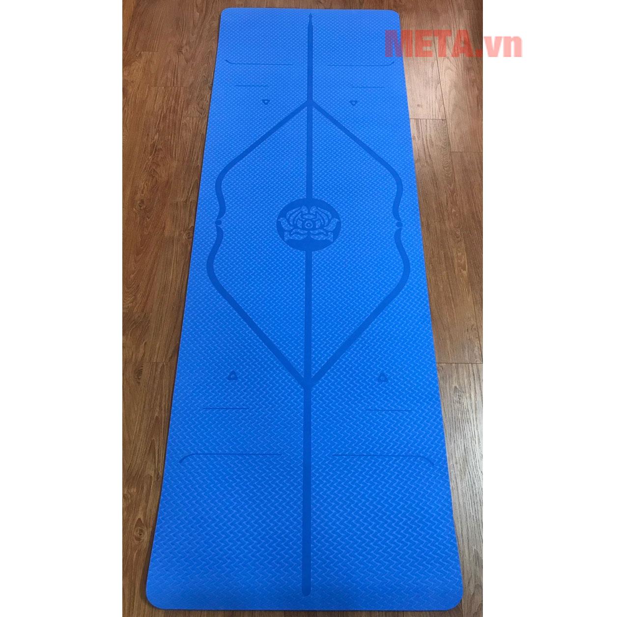 Thảm yoga xanh dương nhạt 8mm