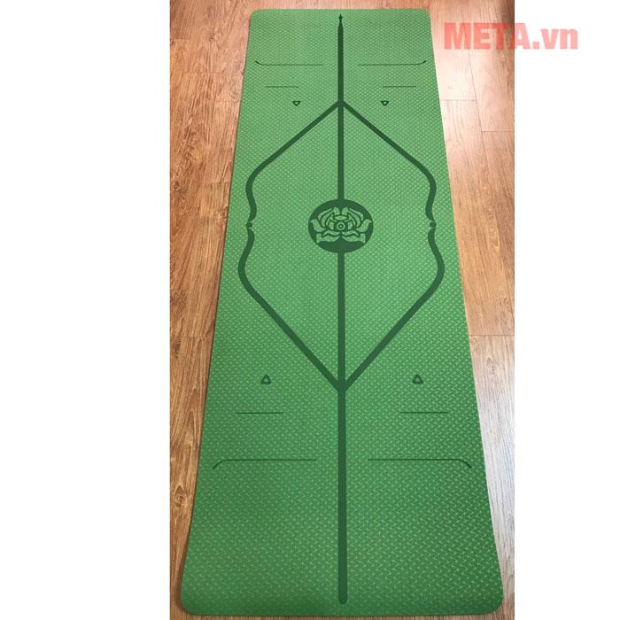 Thảm yoga 8 ly màu xanh lá