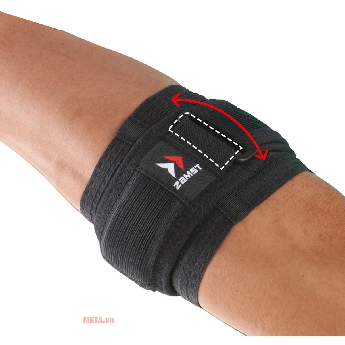 Băng bảo vệ khuỷu tay ZAMST Elbow Band hỗ trợ khuỷu tay khỏi các chấn thương