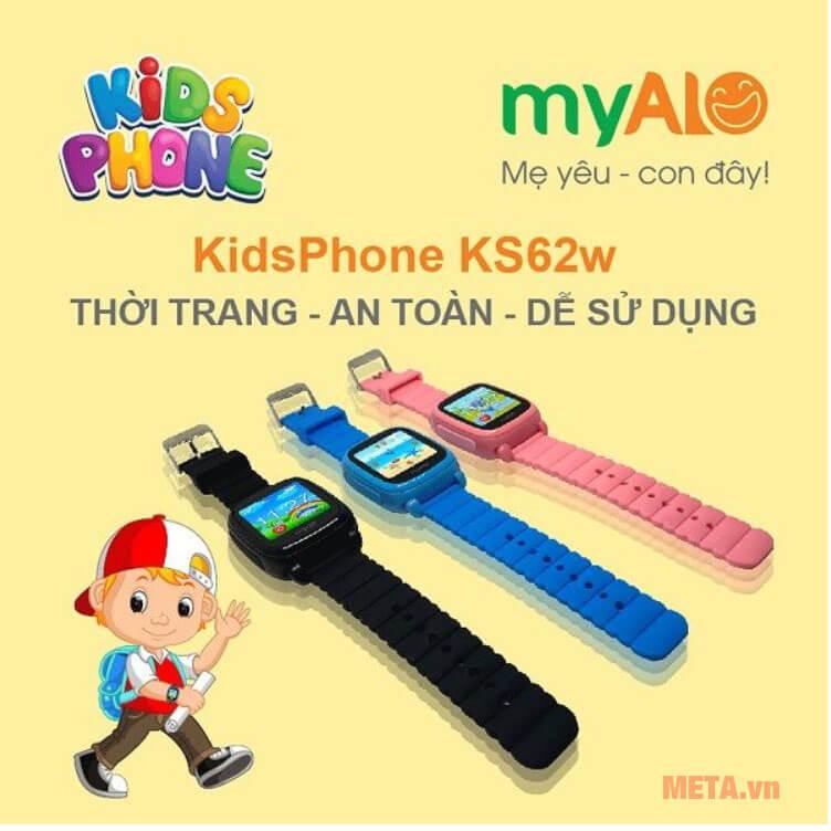 Đồng hồ đeo tay myAlo KS62W thiết kế trẻ trung, năng động