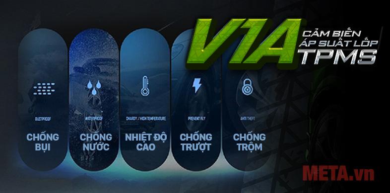 Cảm biến áp suất lốp xe hơi VietMap
