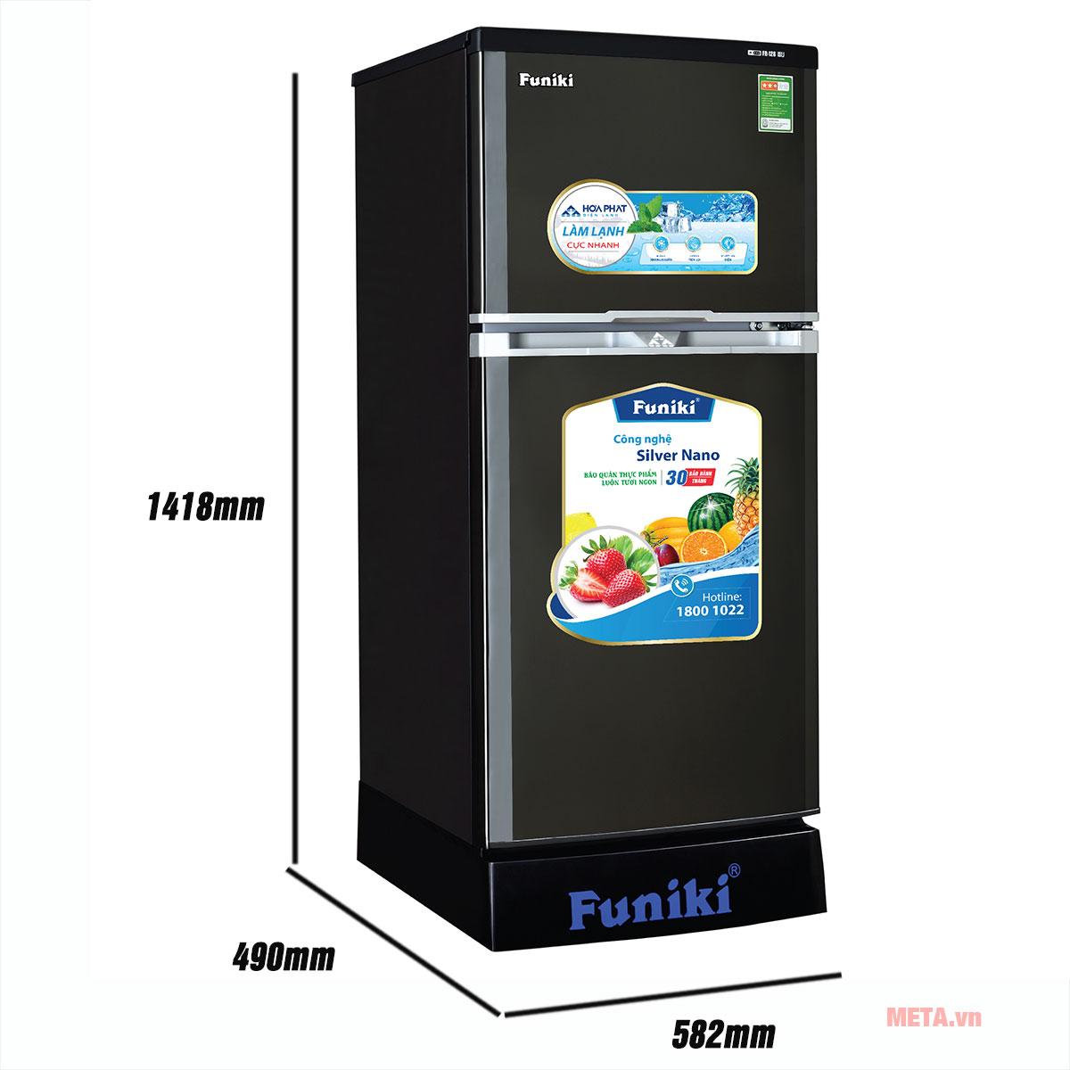 Kích thước tủ lạnh Funiki FR-156ISU