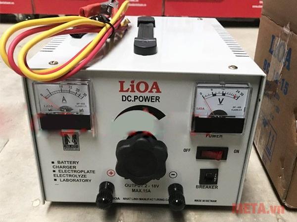 Hình ảnh ắc quy Lioa cho điện thế ra 18V