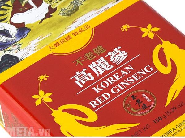 Hồng sâm củ khô (Premium) được làm từ 100% hồng sâm nguyên củ 6 năm tuổi