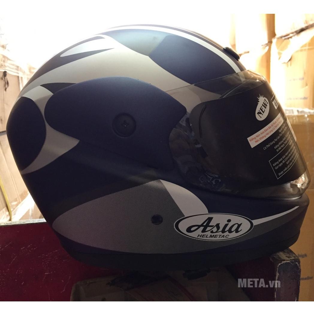 Mũ bảo hiểm xanh mực mờ