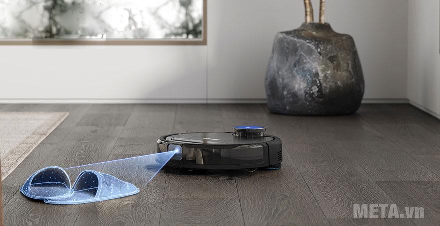 robot hút bụi Ecovacs OZMO960 DG8G sở hữu hệ thống quét laser