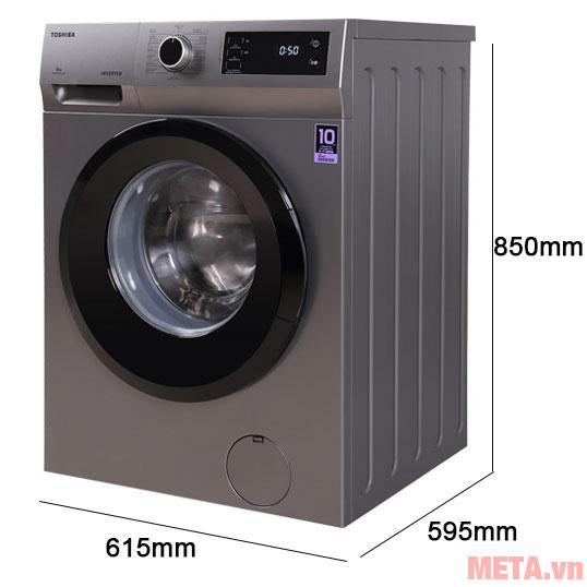 Kích thước máy giặt lồng ngang Toshiba TW-BK105S3V (SK)