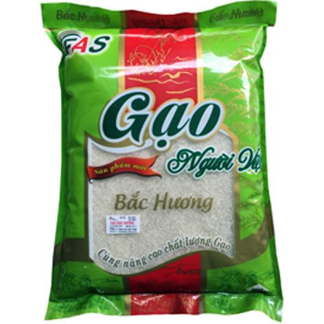 Gạo Bắc Hương được đóng gói bao bì cẩn thận.