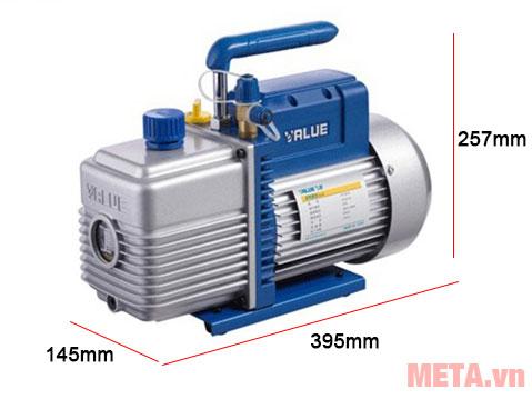 Kích thước máy bơm hút chân không Value VE180N