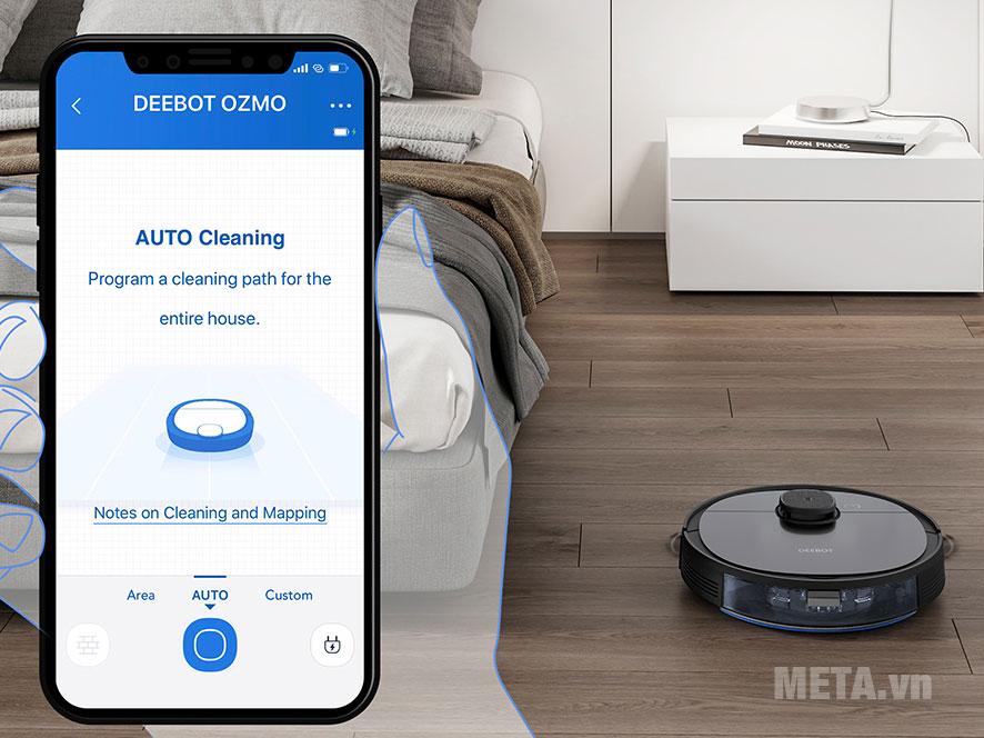 Kết nối với ứng dụng Ecovacs Home