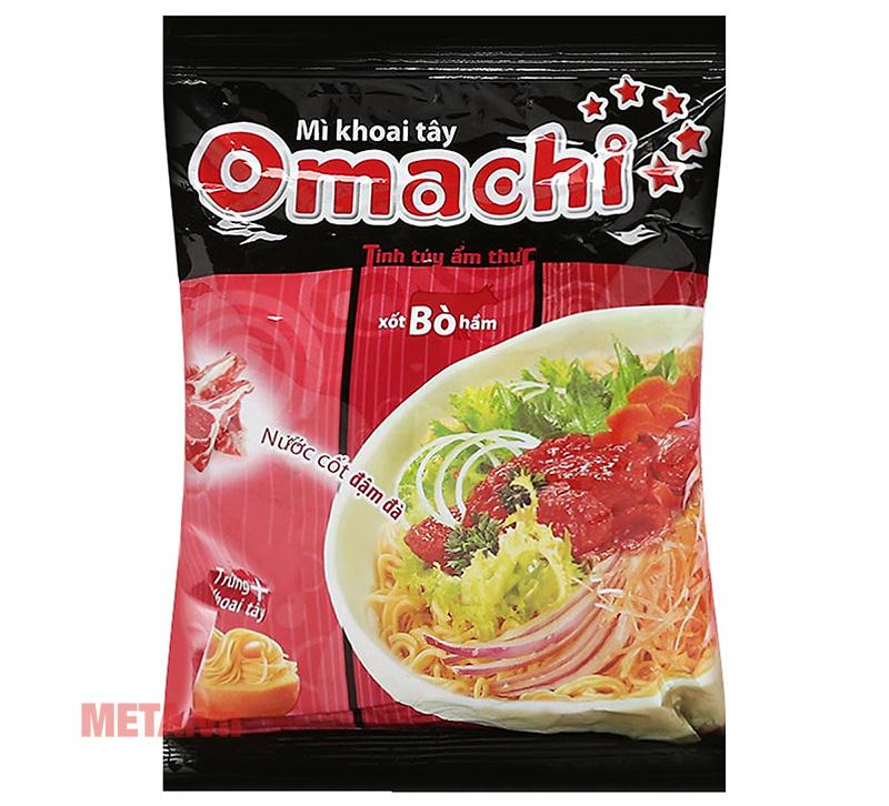 Thùng 30 gói mì Omachi xốt bò hầm