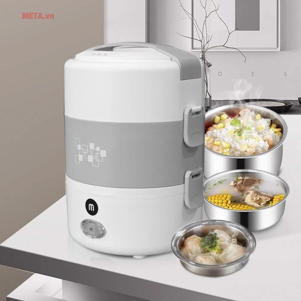 Hộp cơm hâm nóng thức ăn tiện lợi