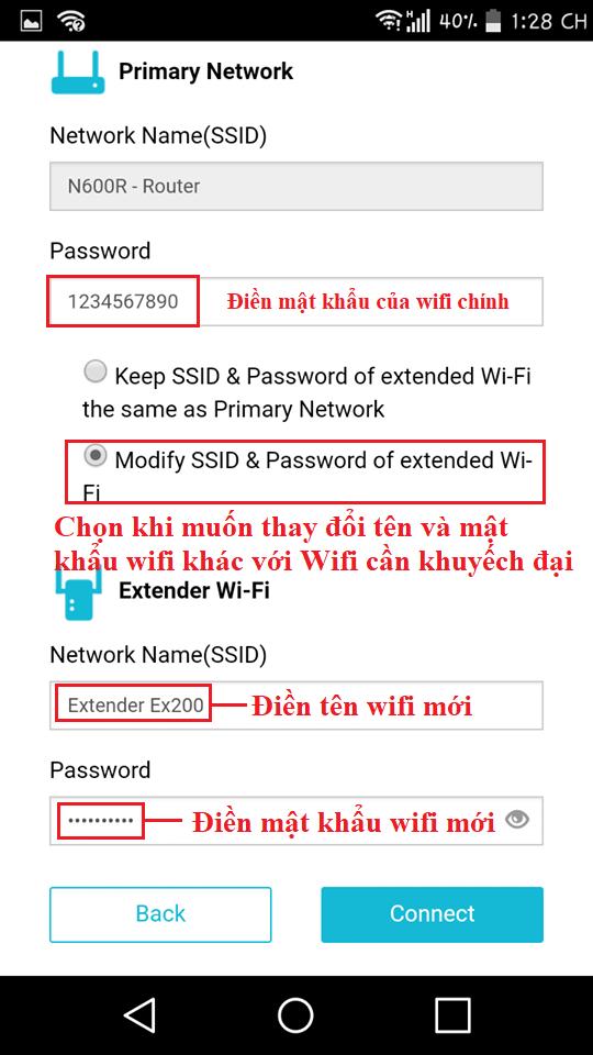 Cài đặt bộ mở rộng Wifi
