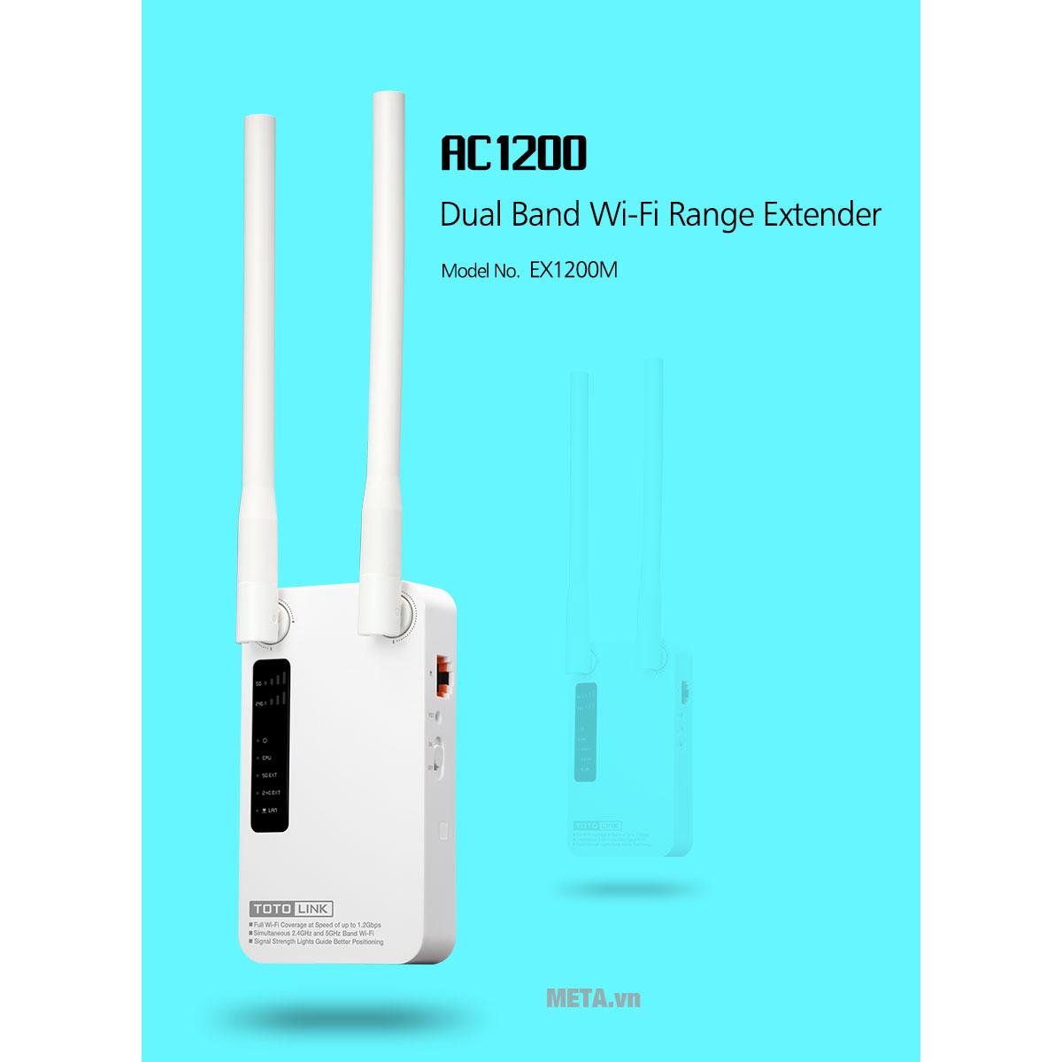 Thiết bị phát Wifi AC1200 TotoLink EX1200M mở rộng sóng Wifi với APP tiện dụng