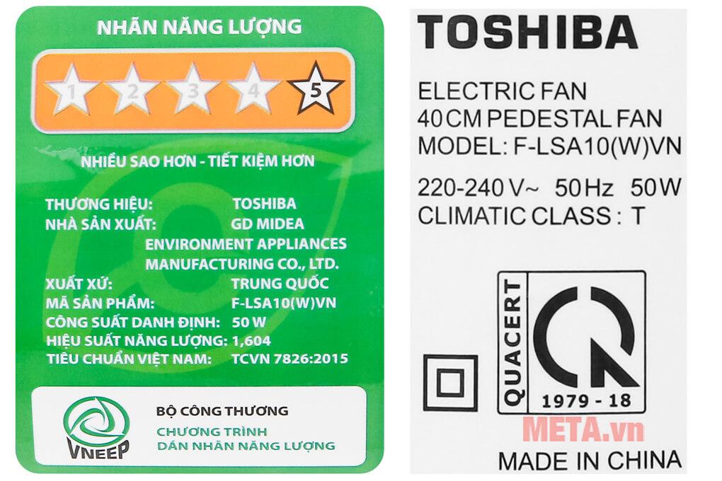 Quạt cây Toshiba