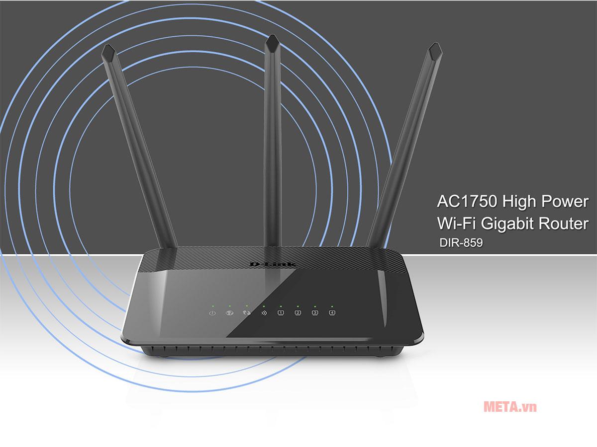 Thiết bị thu phát Wifi D-link DIR-859 tốc độ cao, phủ sóng rộng