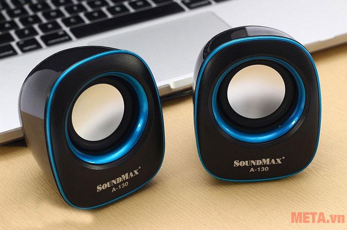 Loa vi tính Soundmax 2.0 màu xanh