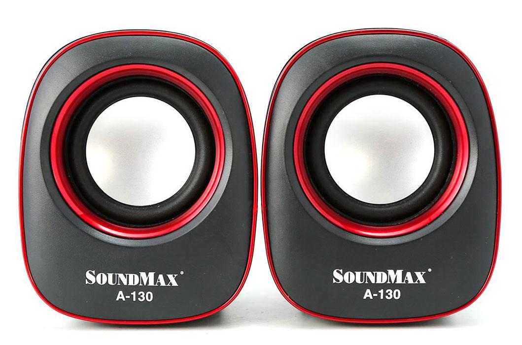 Loa vi tính Soundmax 2.0 màu đỏ