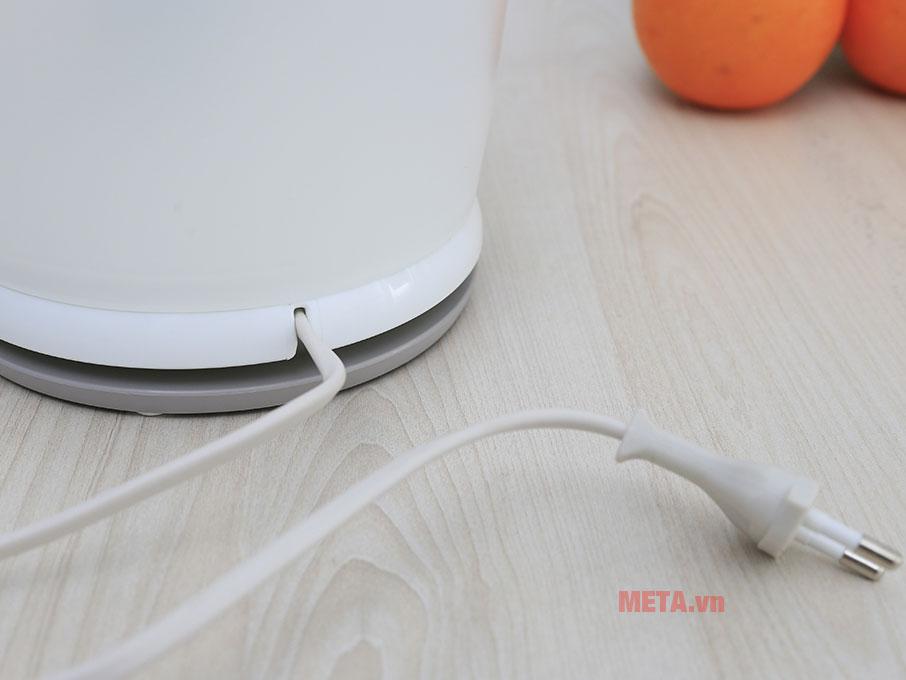 Phần đế thiết kế đặc biệt tránh ảnh hưởng tới dây điện
