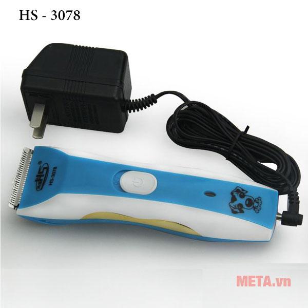 Tông đơ cắt tỉa lông chó mèo HS-3078 cùng Adapter sạc