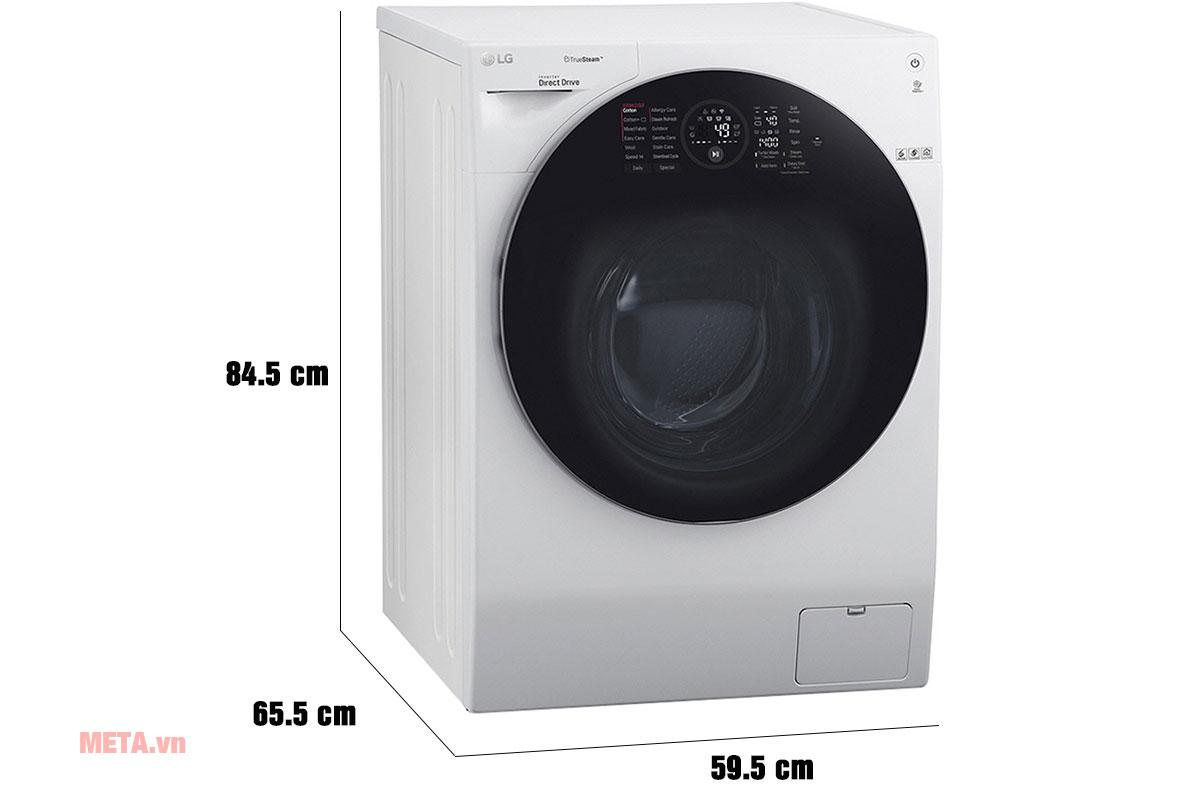 Kích thước máy giặt sấy LG FG1405H3W/TG2402NTWW