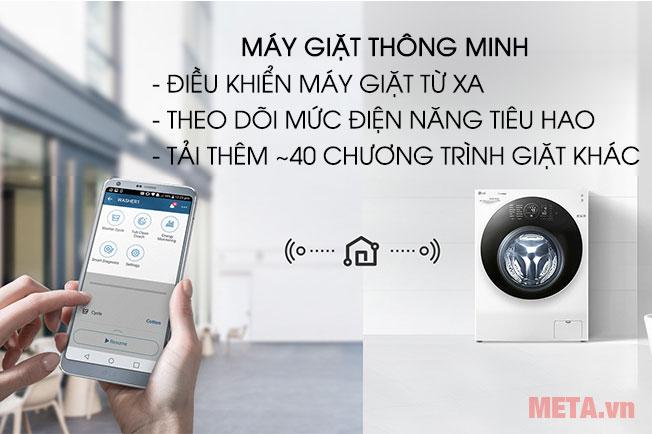 Điều khiển máy giặt sấy từ xa một cách thông minh qua smartphone