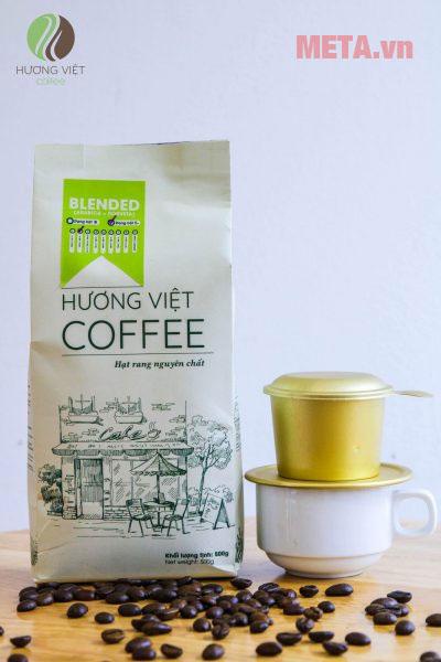 Hình ảnh túi cà phê Blended số 7 rang mộc nguyên chất 500g