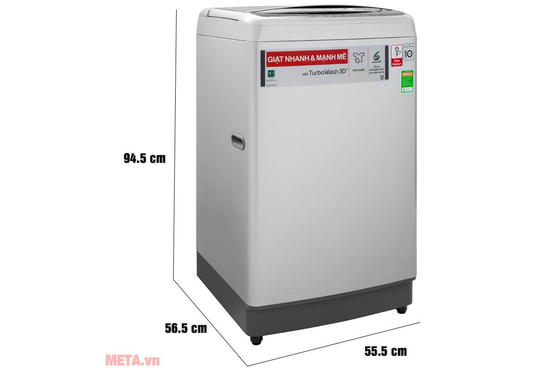 Kích thước máy giặt TH2112SSAV
